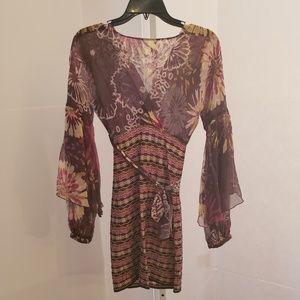 Missoni multi-color floral print knit dress sz 0